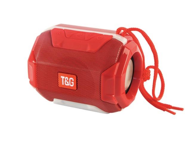 Портативная bluetooth колонка T&G TG-162 с подсветкой (Красный) - изображение 1