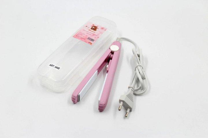Щипцы мини-гофре Gemei в контейнере утюжок плойка для прикорневого объема волос GM-2990W 5440 - изображение 1