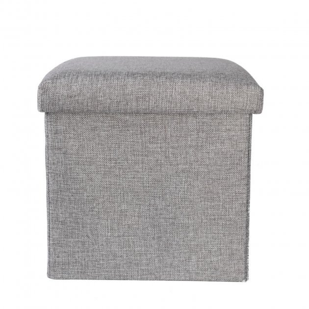 Складной ящик пуф для хранения вещей Серый (K372 ) - изображение 1