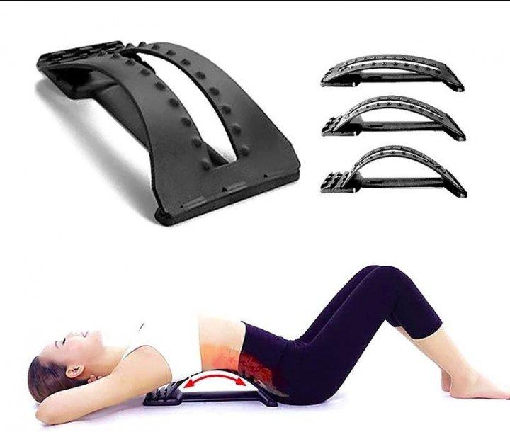Массажер-Тренажер - мостик для растяжки спины Magic back Arivans 38.5x16.8x25.5 см черный 78-136 - изображение 1