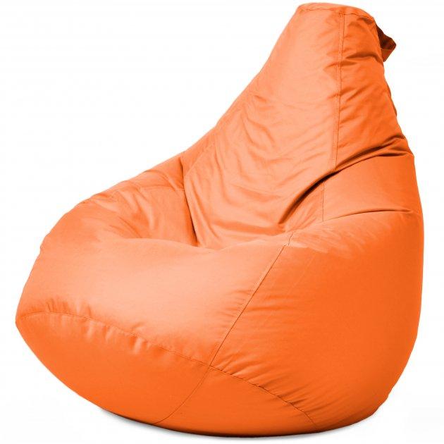 Крісло Мішок Груша Оксфорд 120х85 Студія Комфорту розмір Стандарт помаранчевий - зображення 1