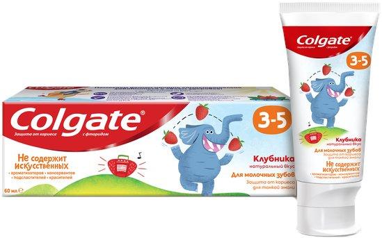 Детская зубная паста Colgate Клубника с фтором от 3 до 5 лет 60 г (6920354825552) - изображение 1