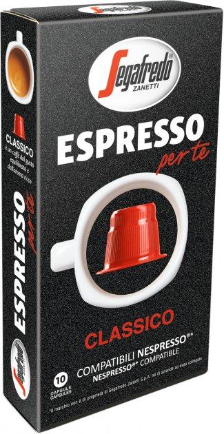 Кофе в капсулах Segafredo Espresso Per Te Classico 5.1 г х 10 шт (8003410247104) - изображение 1
