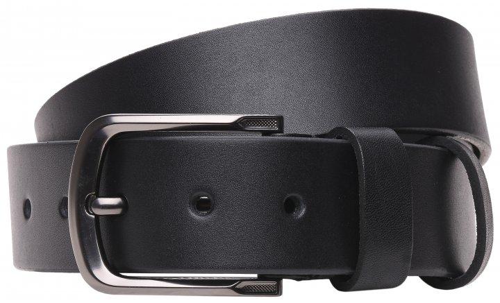 Мужской ремень кожаный Laras 125vgen42 125 см Черный (ROZ6300004288) - изображение 1