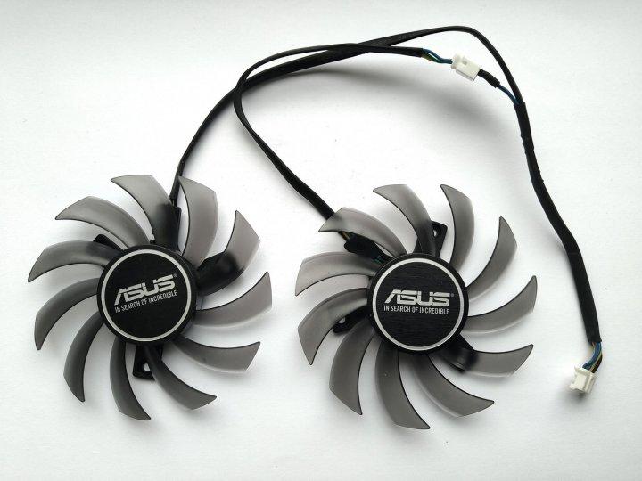 Вентилятор FirstD для відеокарти ASUS FD7010H12S (T128010SU PLD08010S12HH) комплект 2 шт (№85) - зображення 1
