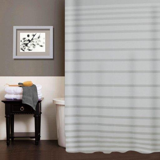 Шторка для душу Мій Дім Lines 180х180 см біла (11761673) - зображення 1