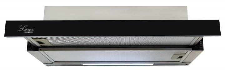 Вытяжка Luxor Concord Black Glass 2M 1000 LED + гофротруба в комплекте черный, нержавеющая сталь - изображение 1