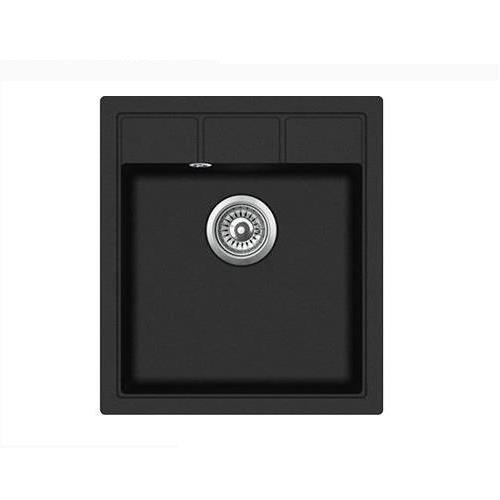 Гранитная мойка кухонная Ankara lite B Черный - изображение 1
