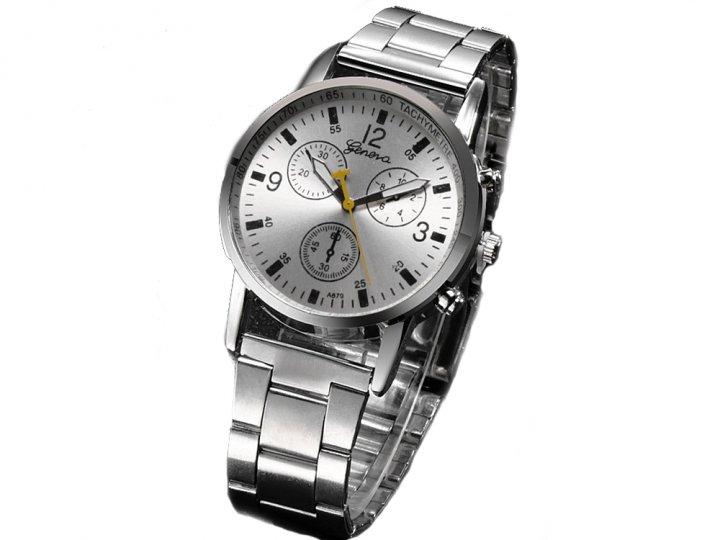 Годинник Geneva Кварцові з нержавіючої сталі чоловічі Білий (1007-061-01) - зображення 1
