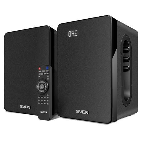 Акустическая система ( колонки ) SVEN SPS-710 (black)2x20 Вт, Bluetooth, USB flash, SD, ДУ (23597) - изображение 1