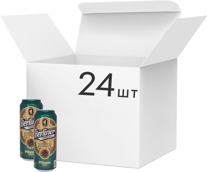 Упаковка пива Berliner Geschichte Pilsner 1237 світле фільтроване 4.8% 0.5 х 24 шт. (4015576056821G) - зображення 1