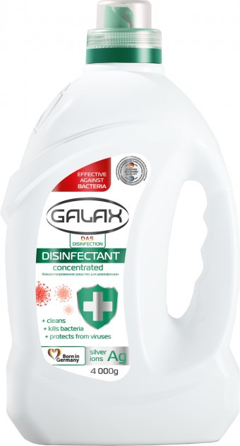 Универсальное концентрированное средство для дезинфекции Galax das Desinfection 4 кг (4260637724601) - изображение 1