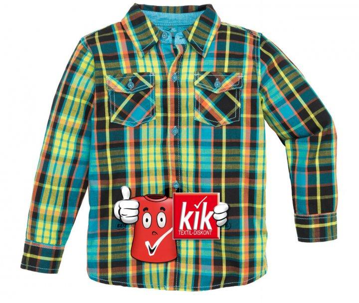 Детская рубашка KiK в клетку Зеленый (5-6/116) (282) - изображение 1