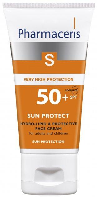 Гидролипидный солнцезащитный крем для лица Pharmaceris S Sun Protect SPF50+ 50 мл (5900717149113) - изображение 1