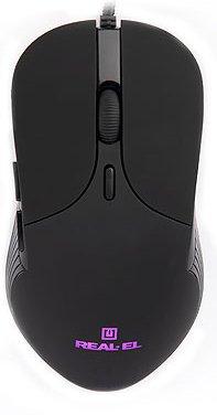 Мышь Real-El RM-295 USB Black (EL123200031) - изображение 1