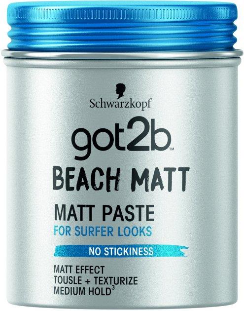 Паста матувальна для волосся Got2b Beach Matt Фіксація 3 100 мл (9000100417839) - зображення 1