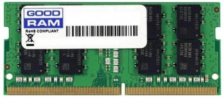 Оперативна пам'ять Goodram SODIMM DDR4-2666 8192MB PC4-21300 (GR2666S464L19S/8G) - зображення 1