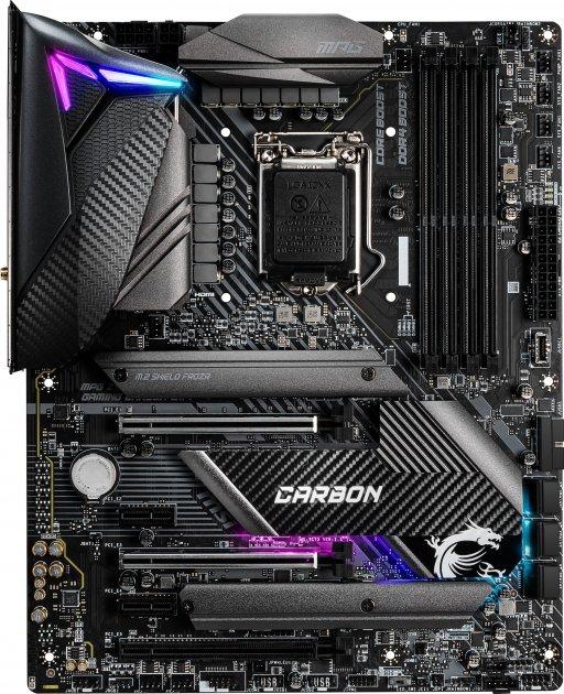 Материнська плата MSI MPG Z490 Gaming Carbon Wi-Fi (s1200, Intel Z490, PCI-Ex16) - зображення 1