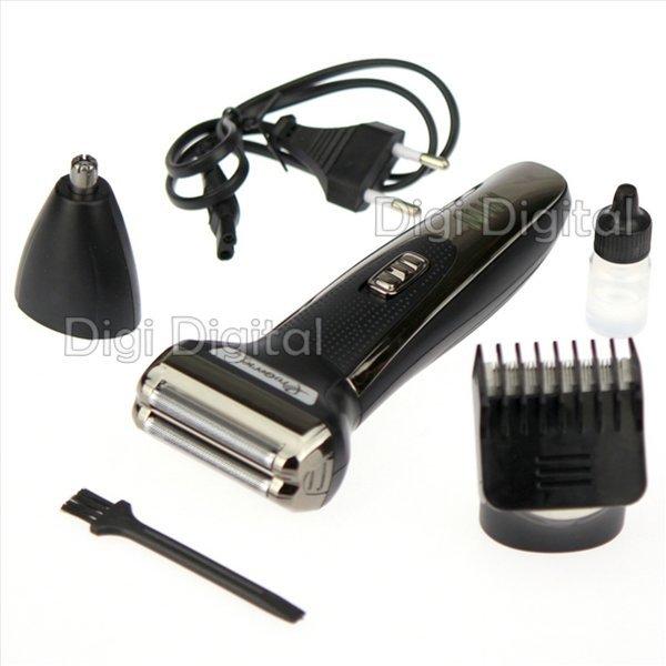 Триммер для усов и бороды Pro Gemei GM-598 машинка для стрижки 3 в 1 Черная - изображение 1