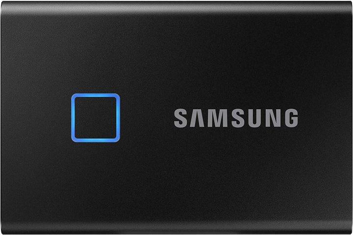 Samsung Portable SSD T7 TOUCH 2TB USB 3.2 Type-C (MU-PC2T0K/WW) External Black - зображення 1