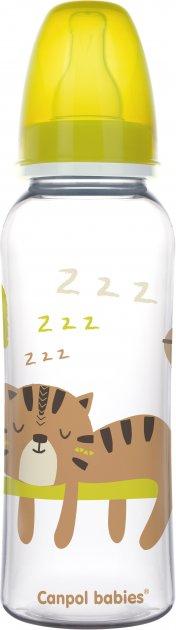 Бутылка Canpol babies PP 250 мл с рисунком Желтая (59/200 Желтый) - изображение 1