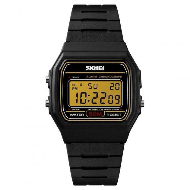 Мужские часы Skmei 1412 Black Gold (1412BOXBKGD) - изображение 1