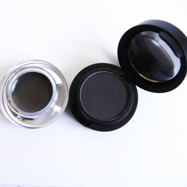 Помадка для бровей + тени для бровей 2в1 La Rosa EG-302-203 тёмный графит (6933495803044) - изображение 1