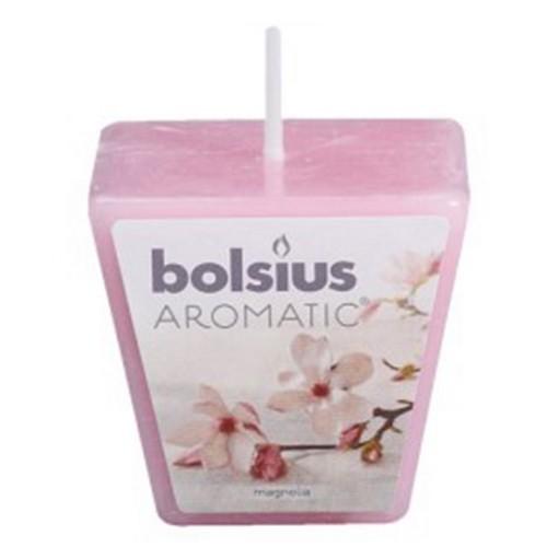 Ароматична свічка Bolsius 4,7х4,7х4,7 см Кубик 1 свічка магнолія рожевий (50104) - зображення 1
