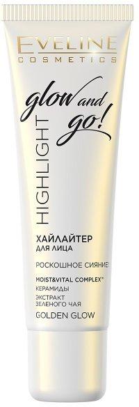 Хайлайтер для обличчя Eveline Highlight Glow And Go! Golden Glow 20 мл (5901761982572) - зображення 1