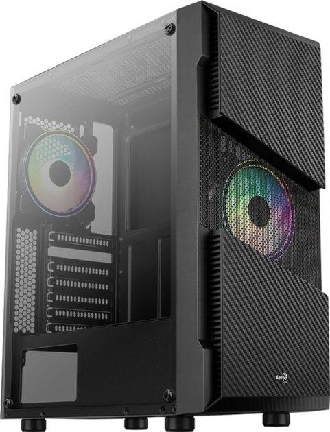 Корпус Aerocool Menace RGB-G-BK-V1 Tempered Glass Black - зображення 1