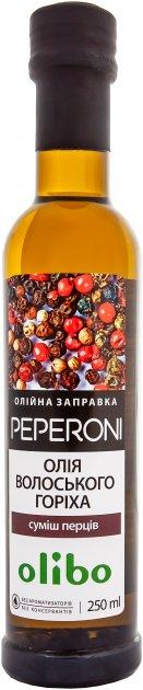 Масляная заправка Olibo Смесь перцев на масле грецкого ореха 250 мл (4820184311466) - изображение 1