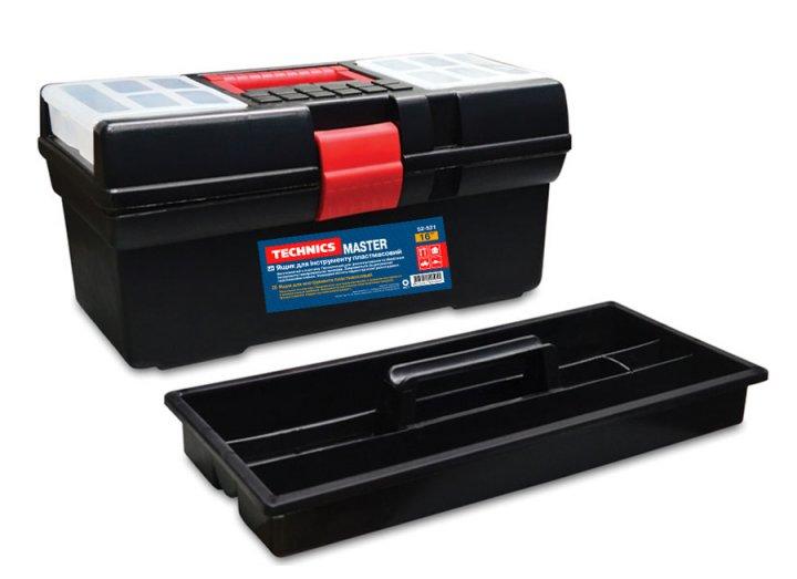 Ящик для інструментів Technics пластмасовий 16 , Master 410х220х200мм ( 52-521 ) - изображение 1