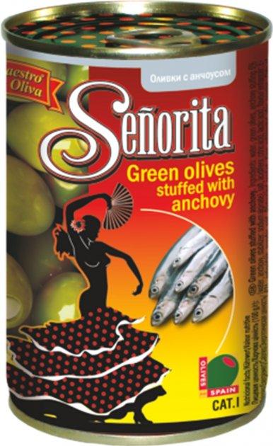 Оливки Señorita Анчоус 280 г (8436024295283) - изображение 1