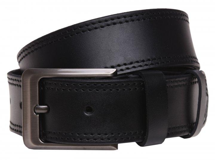 Мужской ремень кожаный Laras 125vgen54 125 см Черный (ROZ6400007419) - изображение 1