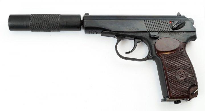 Пневматичний пістолет MP-654К з подовжувачем стовбура (32 серія) - зображення 1