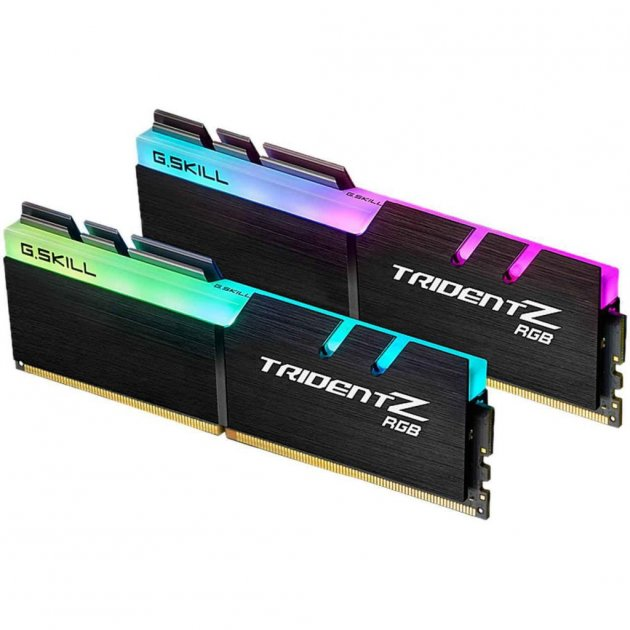 Модуль памяти для компьютера DDR4 16GB (2x8GB) 3000 MHz TridentZ RGB Black G.Skill (F4-3000C16D-16GTZR) - изображение 1