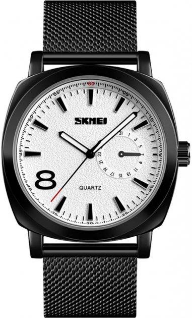 Мужские часы Skmei 1466BOXSBK Black Steel Belt BOX - изображение 1