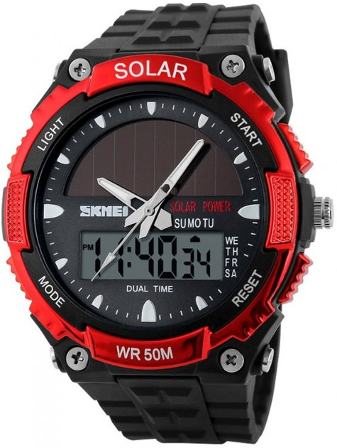 Мужские часы Skmei 1049BOXRD Red BOX - изображение 1