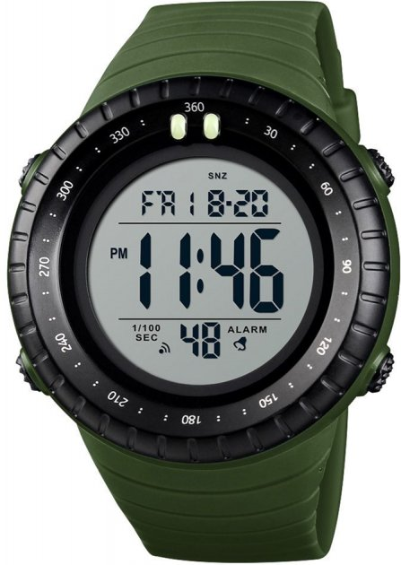 Мужские часы Skmei 1420BOXAG Army Green BOX - изображение 1