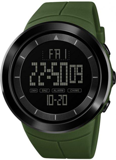 Мужские часы Skmei 1402BOXAG Army Green BOX - изображение 1