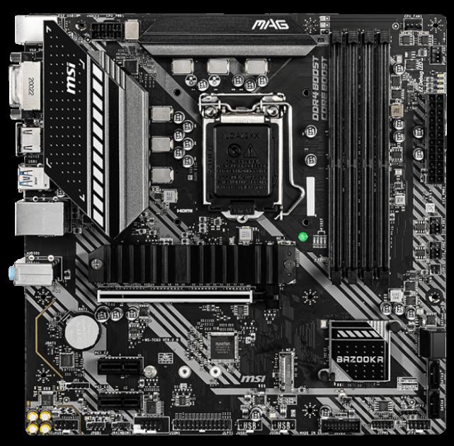 Материнська плата MSI MAG B460M Bazooka (s1200, Intel B460, PCI-Ex16) - зображення 1