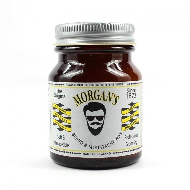 Віск Для Бороді та Вусів Morgan's Beard and Moustache Styling Wax 50 г - зображення 1