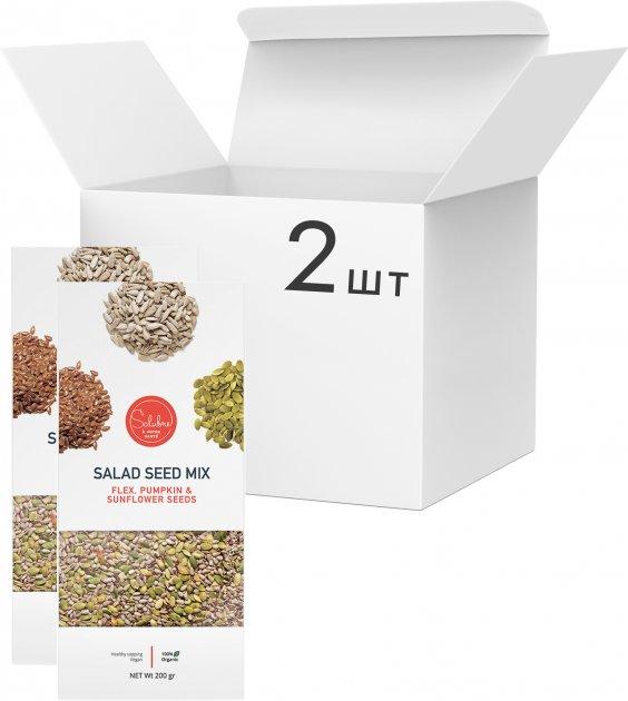 Упаковка смеси семечек Salubre A Votre Sante для салатов 200 г х 2 шт (10104) - изображение 1