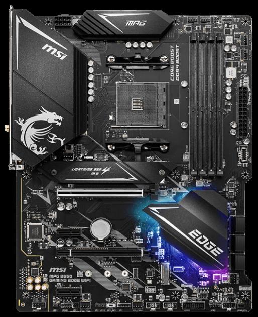 Материнская плата MSI MPG B550 Gaming Edge WiFi (sAM4, AMD B550, PCI-Ex16) - изображение 1