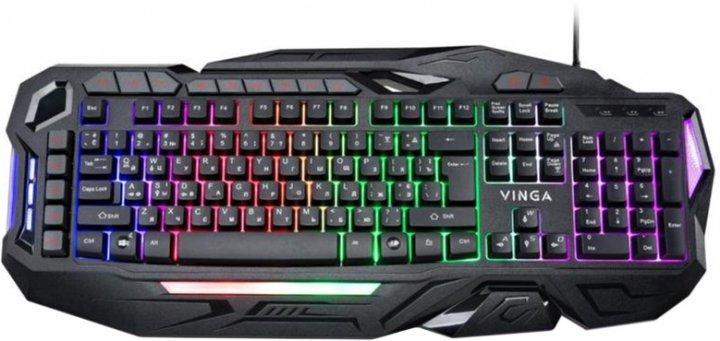 Клавіатура дротова Vinga KBG417 USB - зображення 1