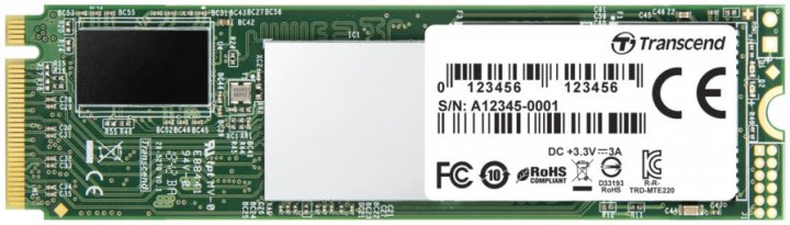 Transcend SSD MTE220S 2TB M.2 PCIe Gen 3.0 3D NAND (TS2TMTE220S) - зображення 1