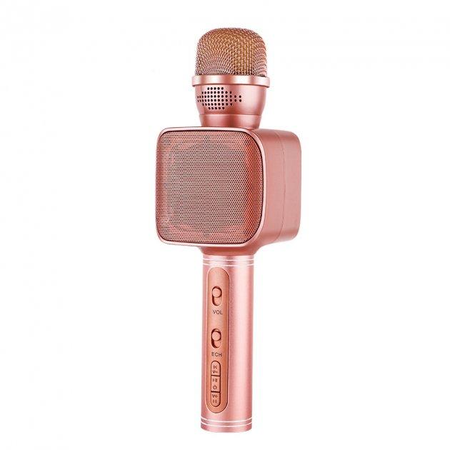 Беспроводной караоке микрофон с колонкой Magic Karaoke YS-68 Вокальный с мембраной низких частот Pink (47540-IM) - изображение 1