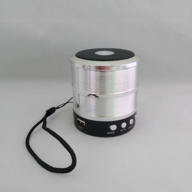 Беспроводная колонка WS-887 с функцией Bluetooth (USB, TF, mini USB 3.5 мм AUX) Серая (11049) - изображение 1