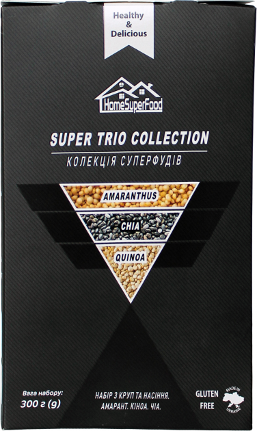 Набор круп и семян Healthy Generation Super Trio Collection Home Super Food 300 г (4820219570219) - изображение 1