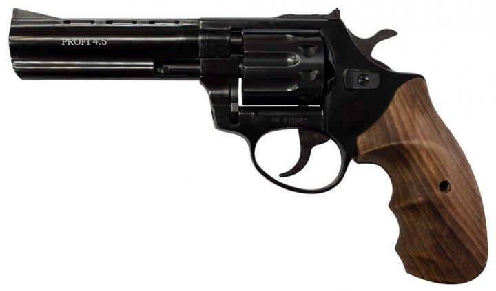 """Револьвер флобера Zbroia PROFI-4.5"""" (чорний / дерево) - зображення 1"""
